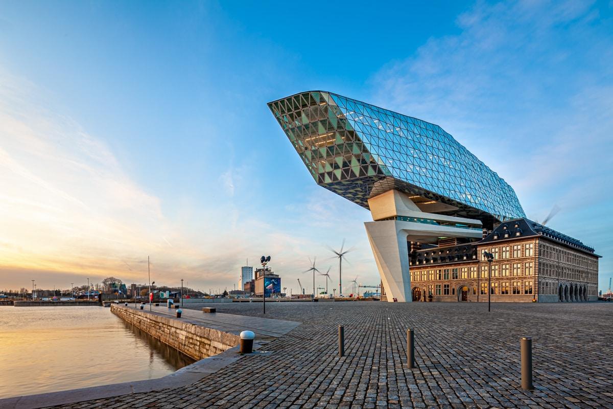 Capitainerie du port d'Anvers Belgique Havenhuis
